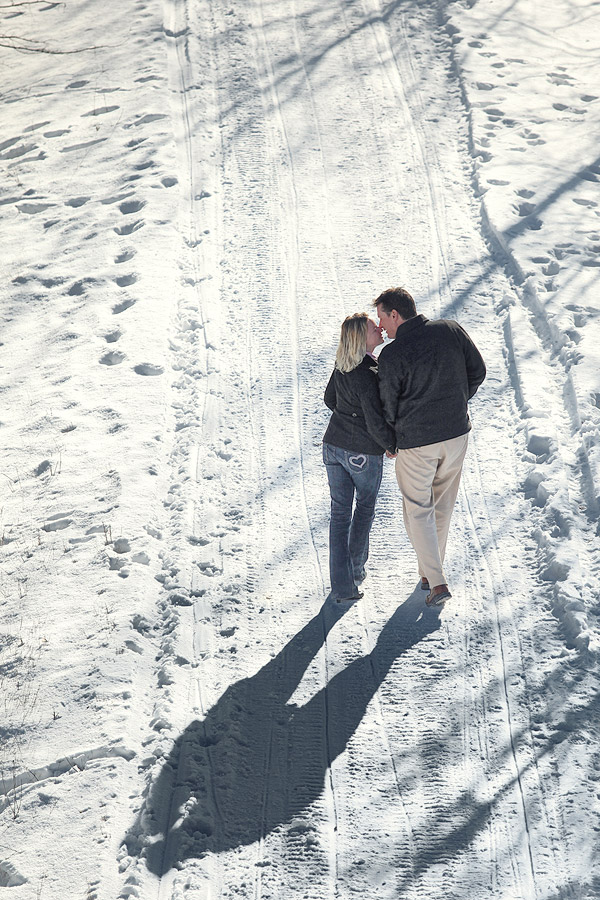 Lindsay Ontario winter engagement