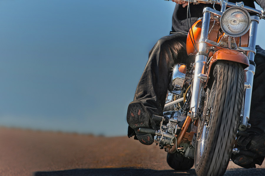 Harley Davidson on the open road
