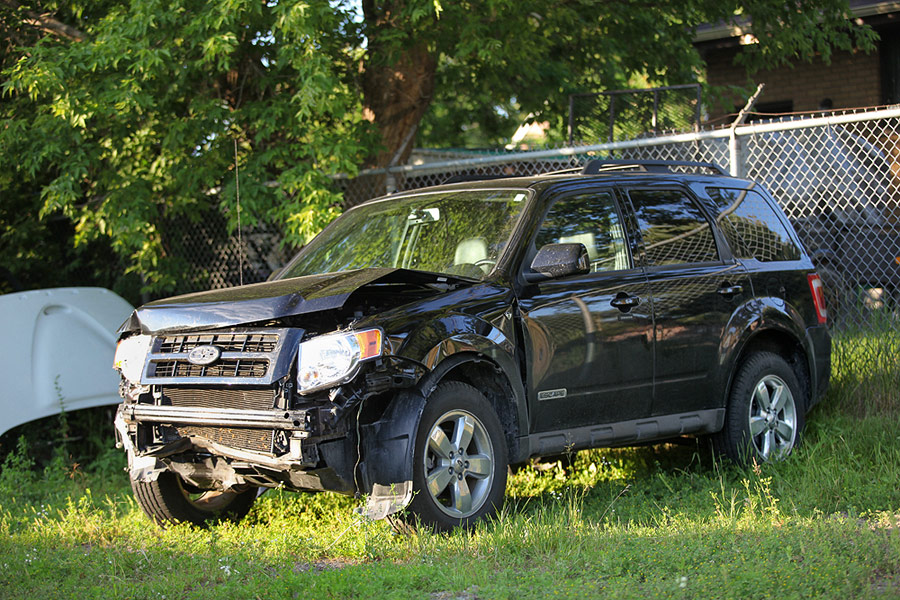 Ford Escape at wrecking yard